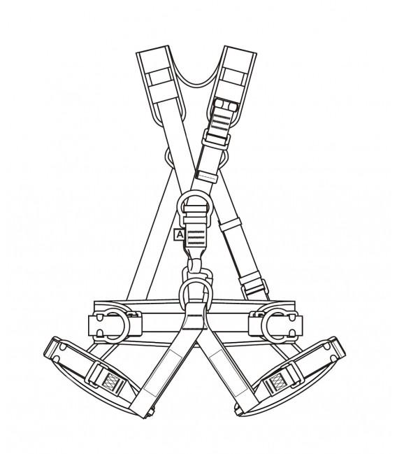 Eller p 71e harnais de travail avec bretelles lastiques - Formation travail en hauteur port du harnais ...