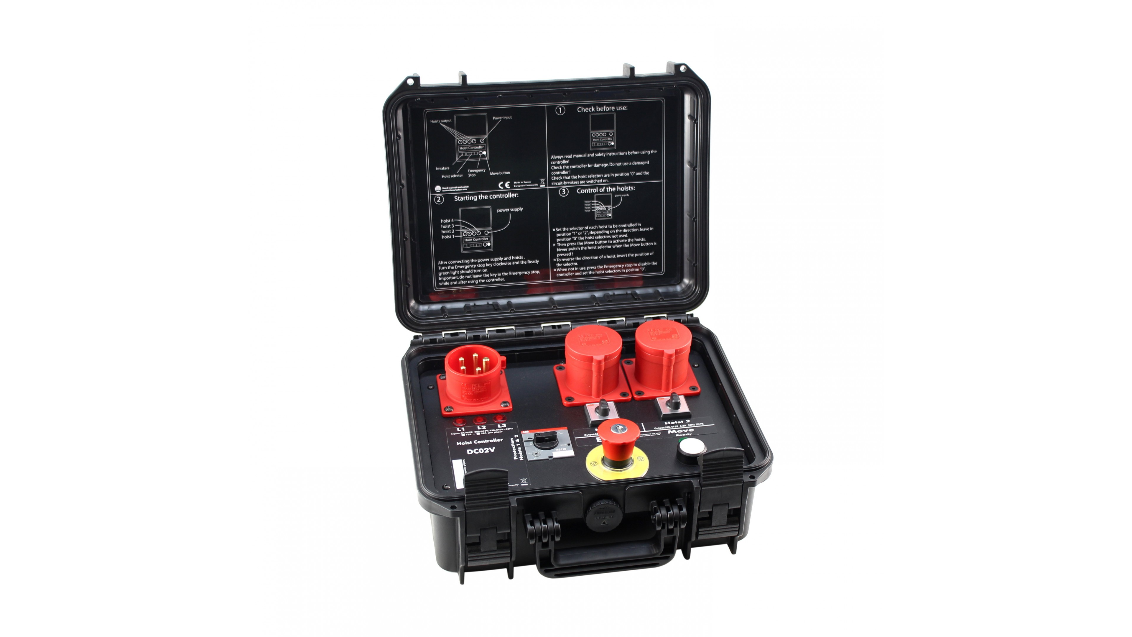 Hoist Controller For 2 Hoists Hard Waterproof Case Made In France Electrical Wiring Channels Local Control